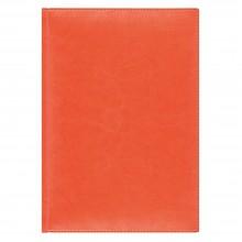 Ежедневник Birmingham 5463 145x205 мм, оранжевый , белый блок, черно-синяя графика, 2018