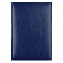 Ежедневник Birmingham 5463 145x205 мм, синий , белый блок, черно-синяя графика, 2018
