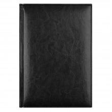 Ежедневник Birmingham 5463 145x205 мм, черный , белый блок, черно-синяя графика, 2018