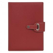 Ежедневник-портфолио , PASSAGE (14,5х20,5 см), красный, кремовый блок