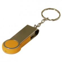 """USB-Flash накопитель - брелок (флешка) """"Swing"""", 32 Gb, в металлическом корпусе с пластиковыми вставками, желтый"""