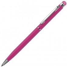 TOUCHWRITER, ручка шариковая со стилусом для сенсорных экранов, розовый/хром, металл