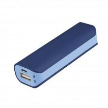Внешний аккумулятор, Aster PB, 2000 mAh, пластик, 90х30х21 мм, синий/голубой