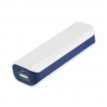 Внешний аккумулятор, Aster PB, 2000 mAh, пластик, 90х30х21 мм, белый/синий, транзитная упаковка