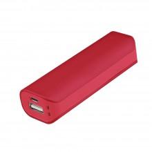 Внешний аккумулятор, Aster PB, 2000 mAh, пластик, 90х30х21 мм, красный, транзитная упаковка