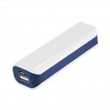 Внешний аккумулятор, Aster PB, 2000 mAh, пластик, 90х30х21 мм, белый/синий
