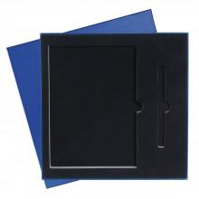 Подарочная коробка под ежедневник+ручка, синяя, 250*250 мм, с ложементом