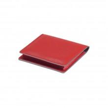Визитница для своих визиток, нат. кожа, Everest, 100 х 75 мм, красный/бежевый/1, фактура с рисунком