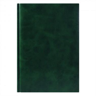 Ежедневник Vegas 5463 145x205 мм зеленый , белый блок, черно-синяя графика, 2019