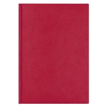 Ежедневник Dallas 5463 145x205 мм, красный , белый блок, черно-синяя графика, 2019