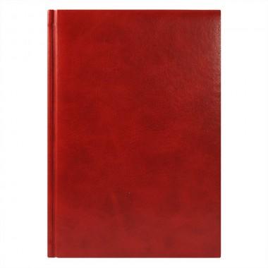 Ежедневник Vegas 5463 145x205 мм красный , белый блок, черно-синяя графика, 2019
