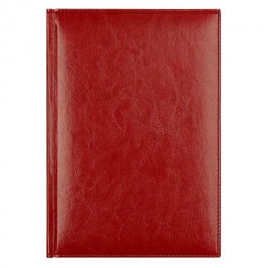 Ежедневник Birmingham 5463 145x205 мм, красный , белый блок, черно-синяя графика, 2019
