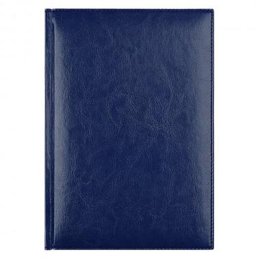 Ежедневник Birmingham 5463 145x205 мм, синий , белый блок, черно-синяя графика, 2019