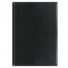 Еженедельник REINA 5485 210x297 мм черный, белый блок, золоченый срез 2018