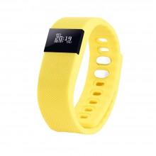 """Смарт браслет (""""умный браслет"""") Portobello Trend, The One, электронный дисплей, браслет-силикон, 240x20x10 мм, желтый"""