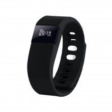 """Смарт браслет (""""умный браслет"""") Portobello Trend, The One, электронный дисплей, браслет-силикон, 240x20x10 мм, черный"""