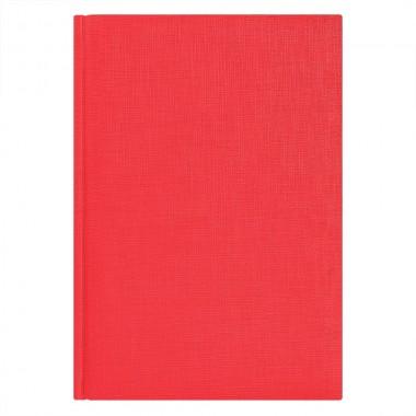Ежедневник недатированный City Flax 145х205 мм, красный