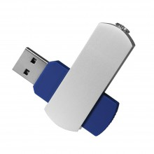 USB Флешка Portobello, Elegante, 16 Gb, Toshiba chip, Twist, 57x18x10 мм, синий
