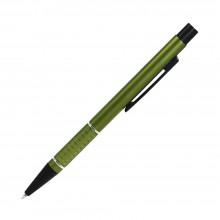 Шариковая ручка, Etna, нажимной мех-м,корпус-алюминий,оливковый,матовый/отд-гравир-ка, хром.кольцо, детали с черным покрытием