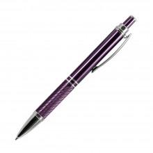 Шариковая ручка, Crocus, корпус- алюминий,покрытие фиолетовый,отделка-гравировка, хром.детали,