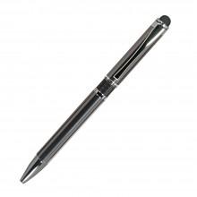 Шариковая ручка, iP,наж. мех-м,корпус- металл., черный, сил. стилус