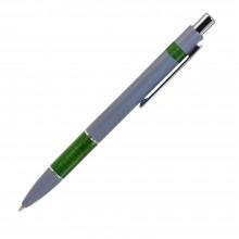 Шариковая ручка, Colibri, нажимной мех-м,корпус-алюминий,отд.-цветная гравир., серый/зеленый