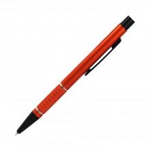 Шариковая ручка, Etna, нажимной мех-м,корпус-алюминий,оранжевый,матовый/отд-гравир-ка, хром.кольцо, детали с черным покрытием