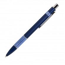 Шариковая ручка, Colibri, нажимной мех-м,корпус-алюминий,отд.-цветная гравир., синий/голубой