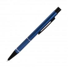 Шариковая ручка, Etna, нажимной мех-м,корпус-алюминий,синий,матовый/отд-гравир-ка, хром.кольцо, детали с черным покрытием