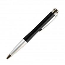 Шариковая ручка, Megapolis, корпус- латунь, покрытие мат. черный лак, отделка - мат. серебро