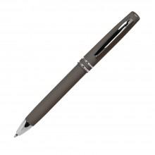 Шариковая ручка, Consul, нажимной мех-м,корпус-алюминий,покрытие-soft touch,отд.-хром. гравир., какао