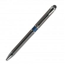 Шариковая ручка, iP, наж. мех-м, корпус- металл, синий, сил. стилус
