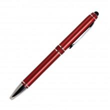 Шариковая ручка, iP2, поворотный мех-м, красный матовый, отделка хром, силиконовый стилус