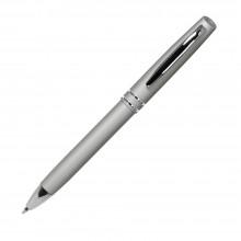 Шариковая ручка, Consul, нажимной мех-м,корпус-алюминий,покрытие-soft touch,отд.-хром. гравир., серебро