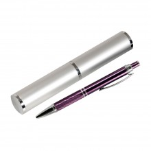 Шариковая ручка, Crocus, корпус-алюминий, фиолетов,отделка-гравировка, хром.детали,в упак