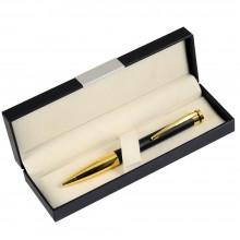 Шариковая ручка, Megapolis. корпус-латунь,покрытие матовый черный лак,отделка-позолота, В УП