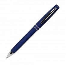 Шариковая ручка, Consul, нажимной мех-м,корпус-алюминий,покрытие-soft touch,отд.-хром. гравир., синий
