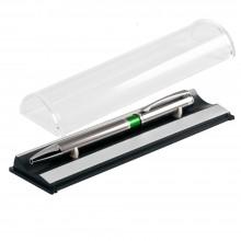 Шариковая ручка, iP, наж. мех-м, корпус- металл., зеленый, сил. стилус, В УПАКОВКЕ