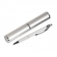 Шариковая ручка, Neon, нажимной мех-м, белый, отделка хром, в уп