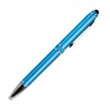 Шариковая ручка, iP2, поворотный мех-м, лазурный матовый, отделка хром, силиконовый стилус