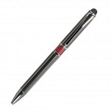 Шариковая ручка, iP, наж. мех-м, корпус- металл., красный, сил. стилус