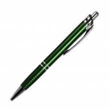 Шариковая ручка, Neon, нажимной мех-м, зеленый матовый, отделка хром
