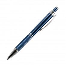 Шариковая ручка, Crocus,корпус- алюминий, покрытие синий, отделка - гравировка, хром. детали