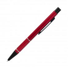 Шариковая ручка, Etna, нажимной мех-м,корпус-алюминий,красный,матовый/отд-гравир-ка, хром.кольцо, детали с черным покрытием