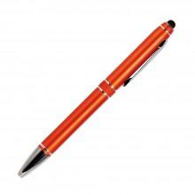 Шариковая ручка, iP2, поворотный мех-м, оранжевый матовый, отделка хром, силиконовый стилус