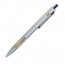 Шариковая ручка, Colibri, нажимной мех-м,корпус-алюминий,отд.-цветная гравир., серебро/белое золото