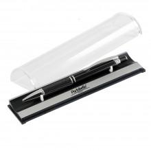 Шариковая ручка, Crocus, алюминий,покрытие черный, отделка - гравировка, хром. детали,в упак с лого