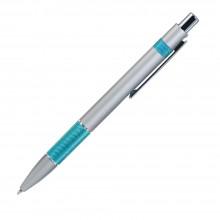 Шариковая ручка, Colibri, нажимной мех-м,корпус-алюминий,отд.-цветная гравир., серебро/мятный