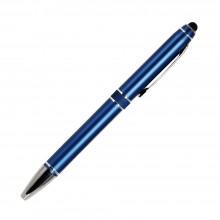 Шариковая ручка, iP2, поворотный мех-м, синий матовый, отделка хром, силиконовый стилус