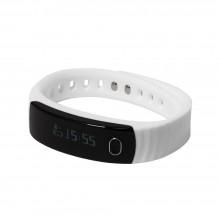 """Смарт браслет (""""умный браслет"""") Portobello Trend, Health, электронный дисплей, браслет-силикон, 195x16x13 мм, белый"""